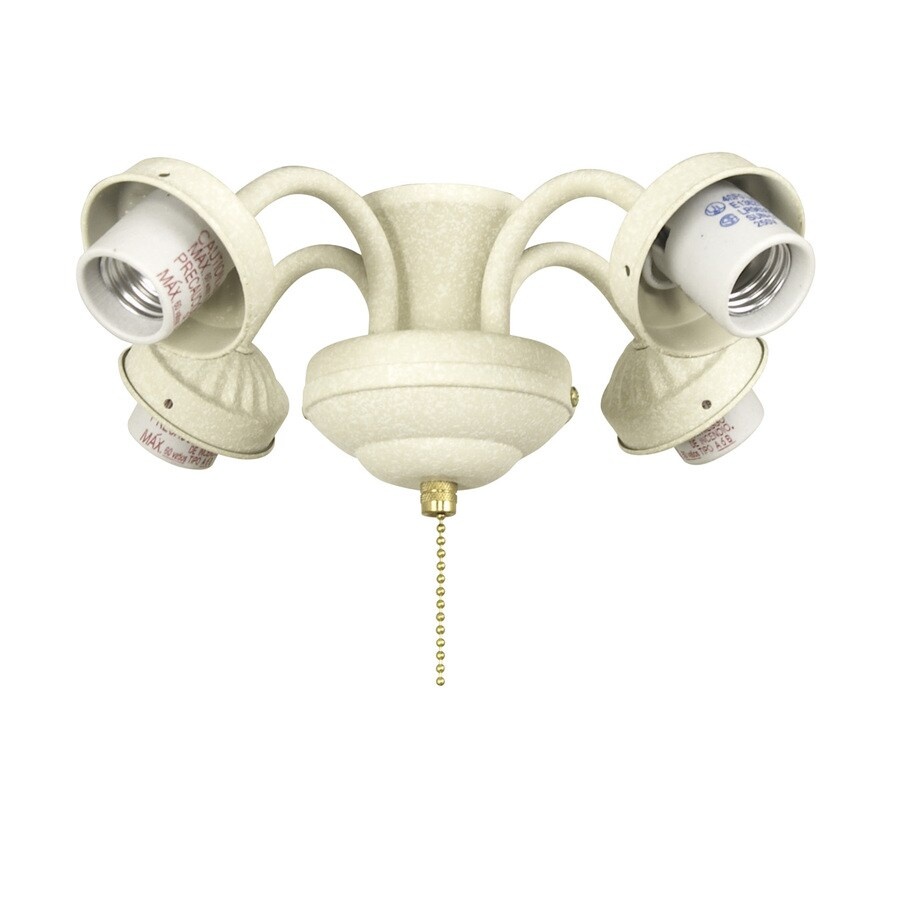 Harbor Breeze 4-Light Sandstone Ceiling Fan Light Kit with Shade Not Included Glass or Shade