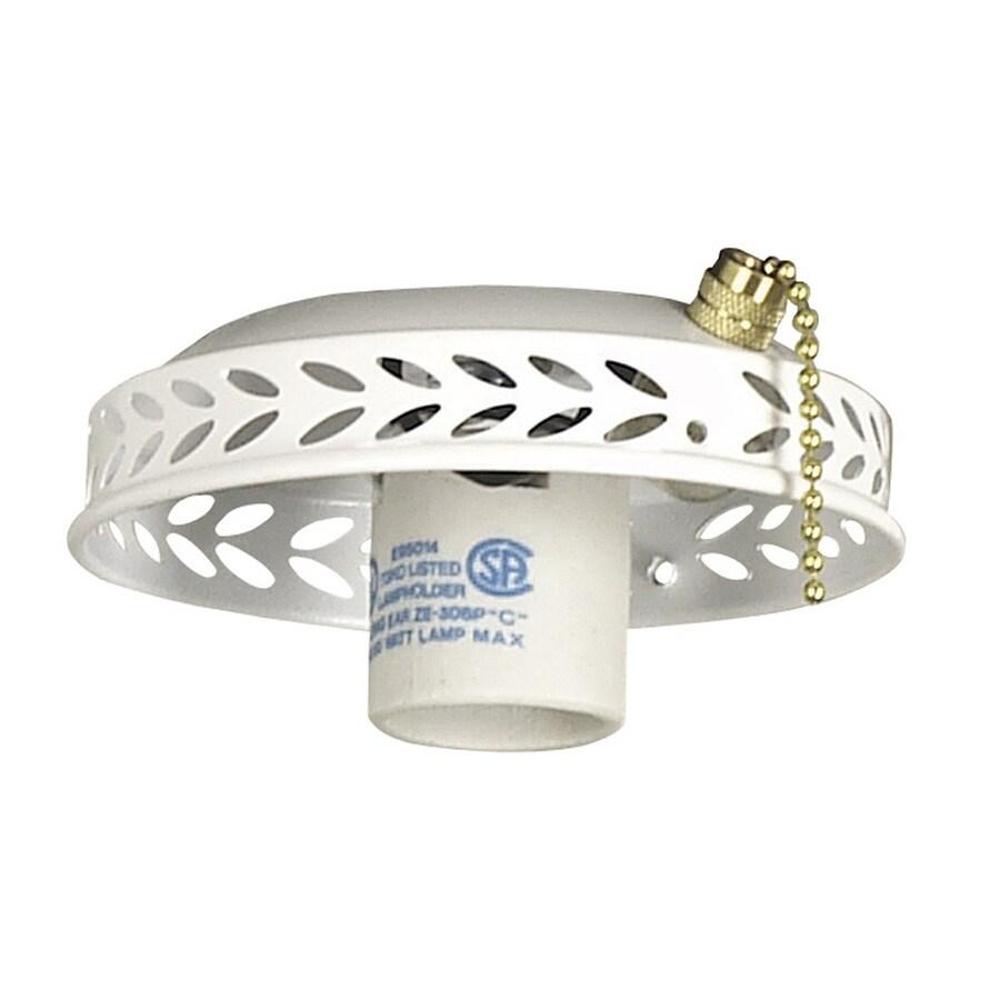 Litex 1-Light White Compact Fluorescent Medium Base Ceiling Fan Light Kit