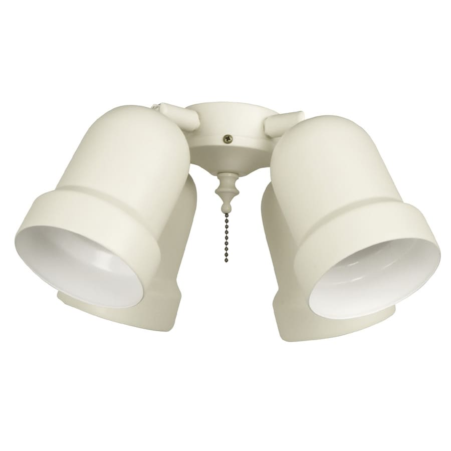 Harbor Breeze 4-Light Bone Ceiling Fan Light Kit with Shade Not Included Glass or Shade
