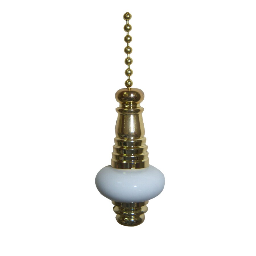Harbor Breeze White and Brass Porcelain Pull Chain