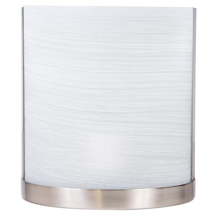 allen + roth Merington 6.5-in W 1-Light Brushed Nickel Pocket Hardwired Wall Sconce