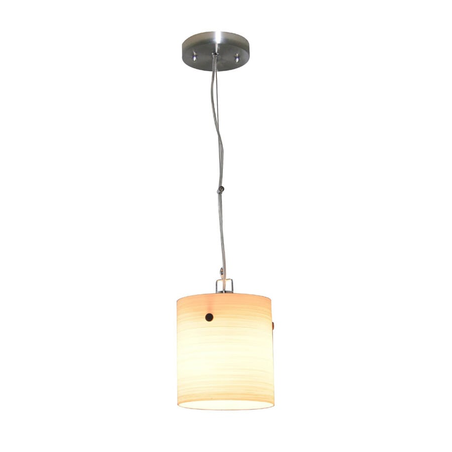 Portfolio Box 6.3-in Brushed Nickel Mini Pendant