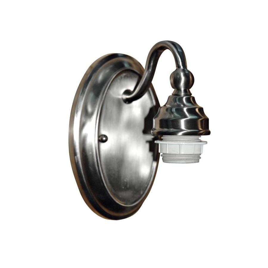 Portfolio 5.12-in W 1-Light Brushed Nickel Arm Hardwired Wall Sconce