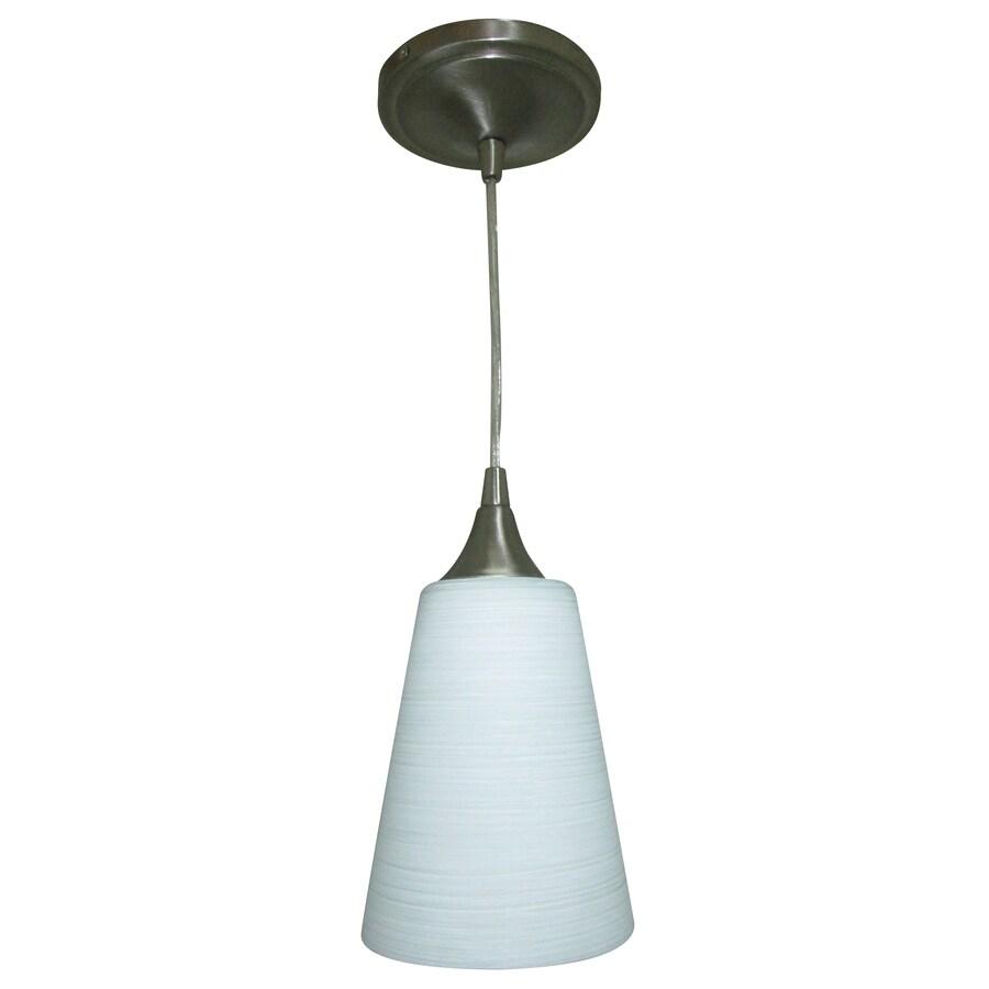 Portfolio 5.5-in Polished Nickel Mini Cone Pendant
