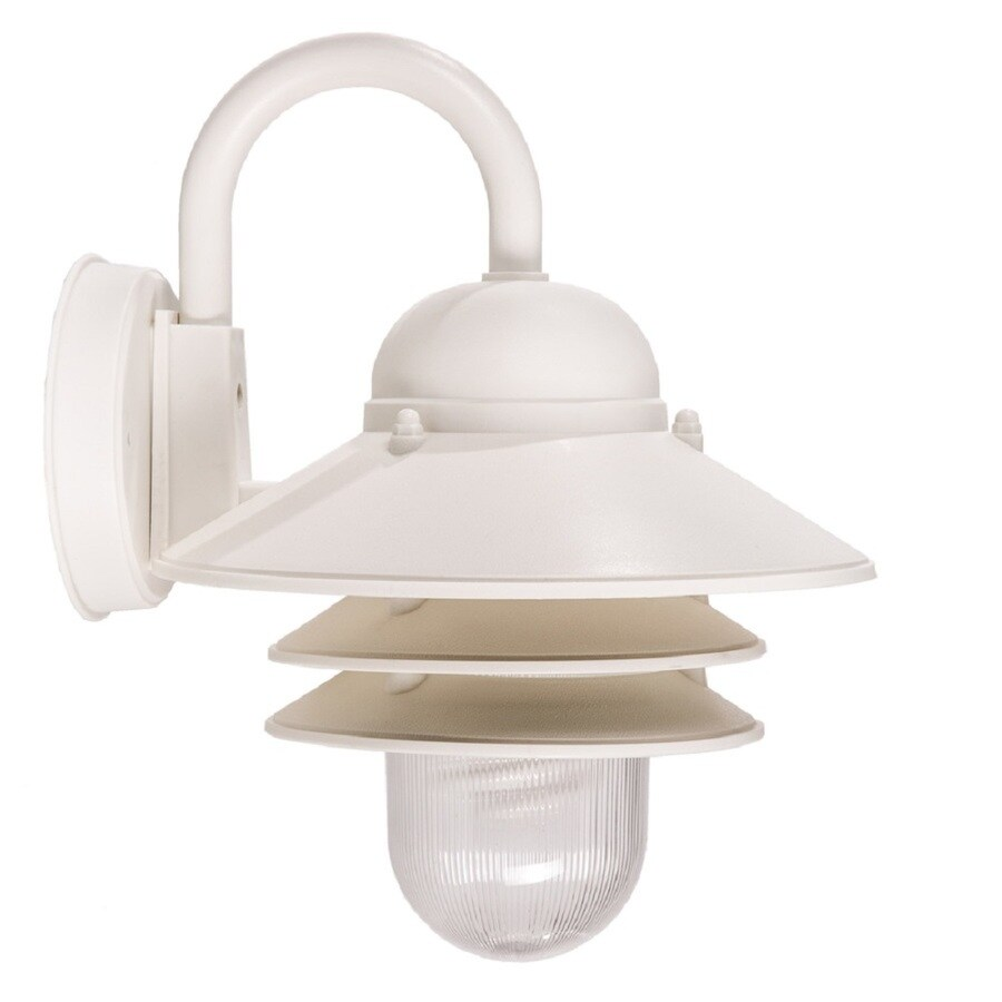 Portfolio 13-in H White Outdoor Wall Light