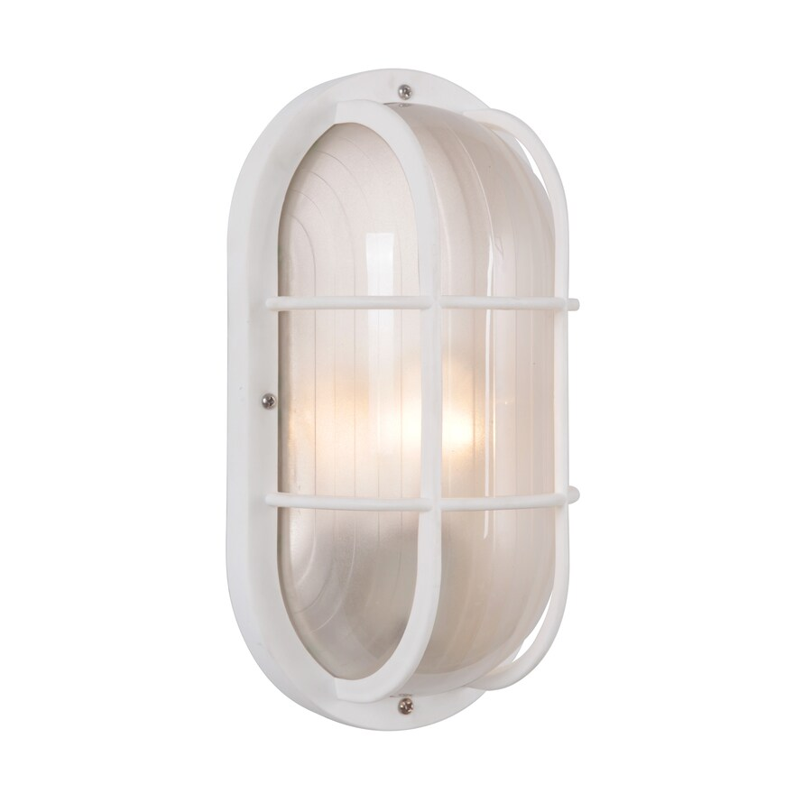 Portfolio 10.5-in H White Outdoor Wall Light