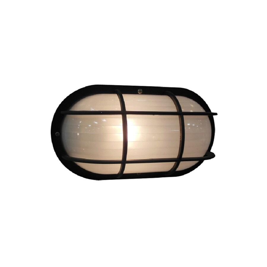 Portfolio 10.5-in H Black Outdoor Wall Light