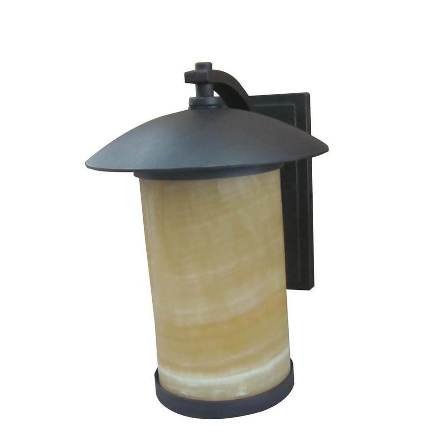 Portfolio Everus 12.5-in H Bronze Outdoor Wall Light