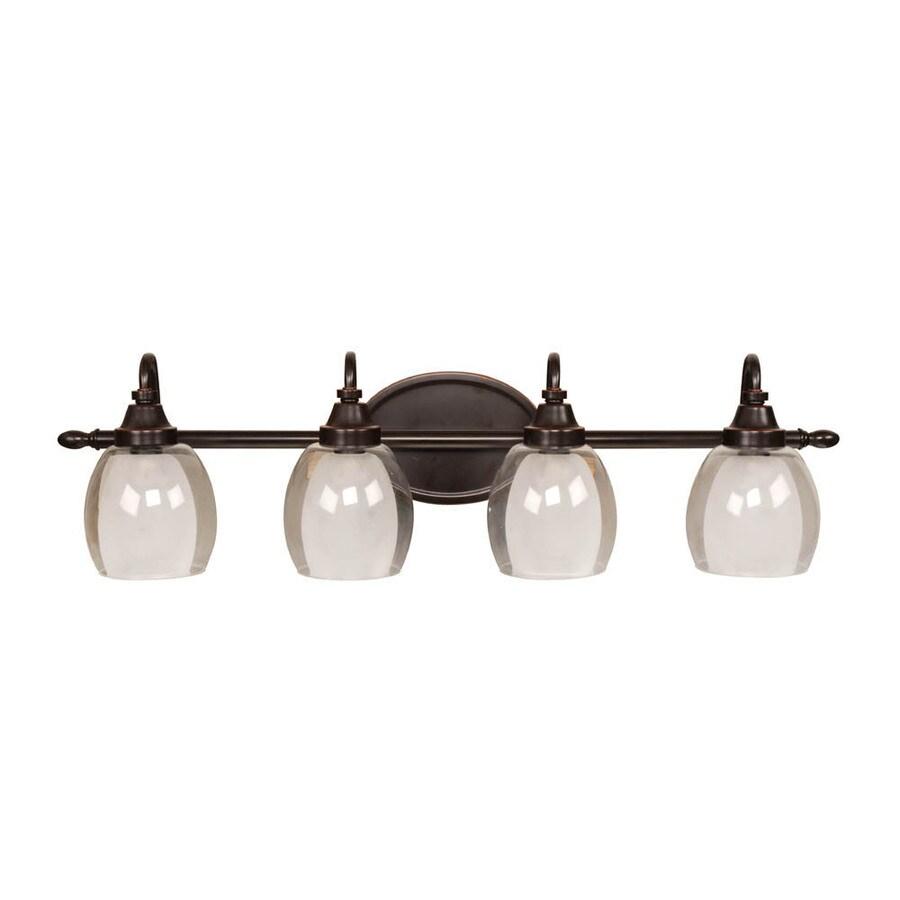 allen + roth 4-Light Bronze Bathroom Vanity Light