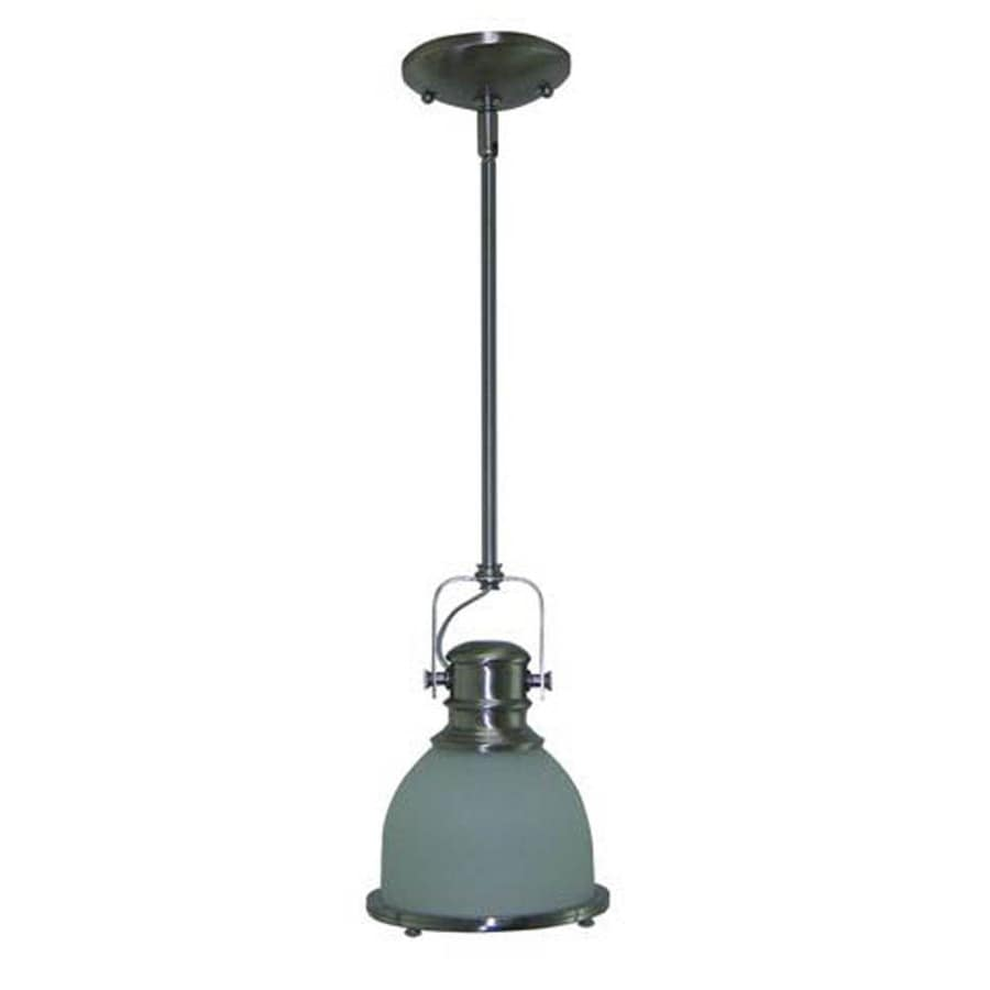 Shop Litex W Brushed Nickel Pendant Light With Frosted Shade At Lowes