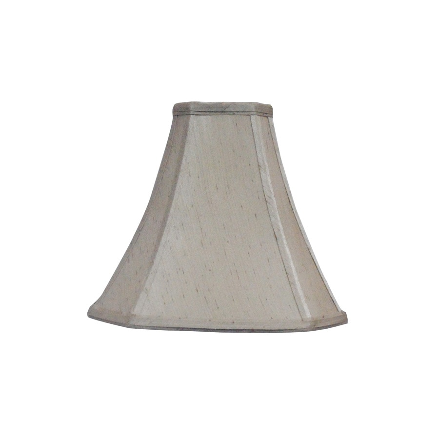 allen + roth 8.75-in x 10-in Silken Toast Fabric Bell Lamp Shade