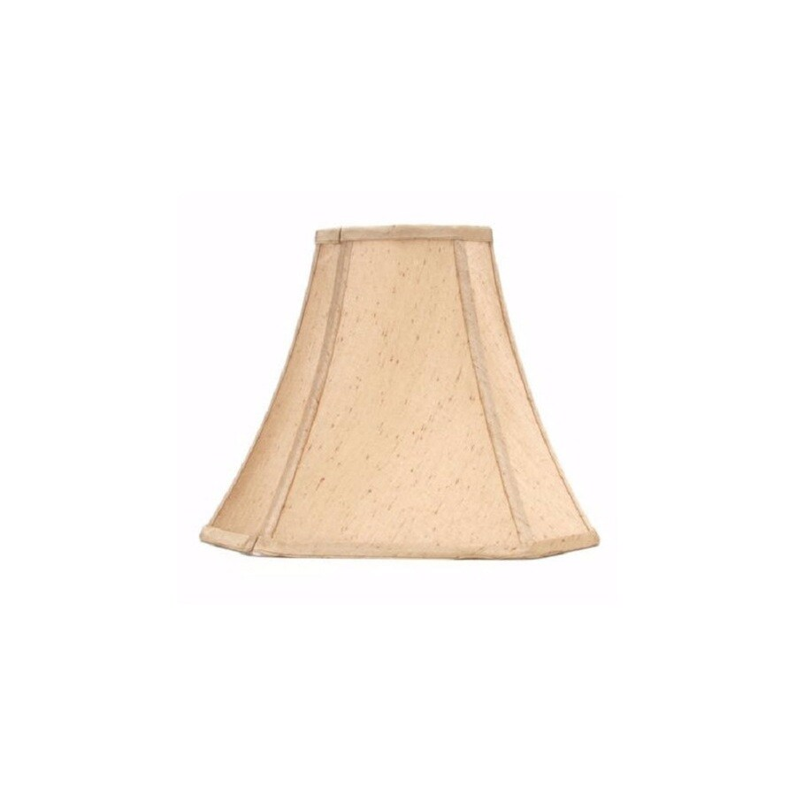 allen + roth 10.75-in x 13-in Silken Toast Fabric Bell Lamp Shade