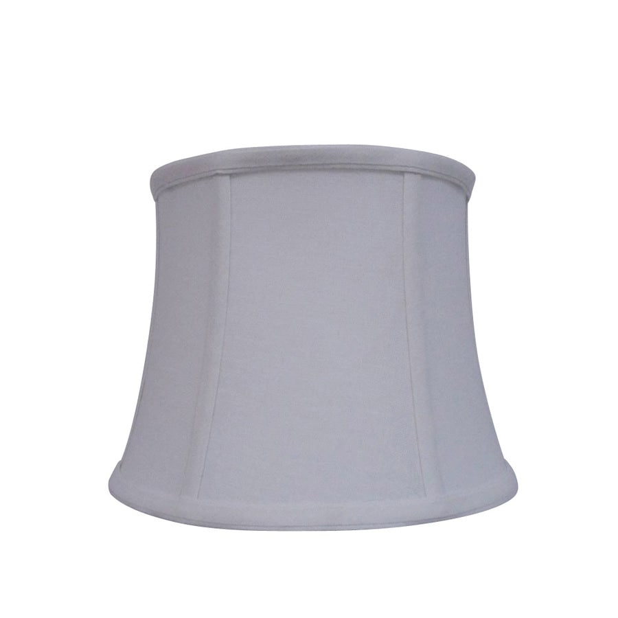 Shop Allen + Roth 7.5-in X 10-in White Fabric Drum Lamp