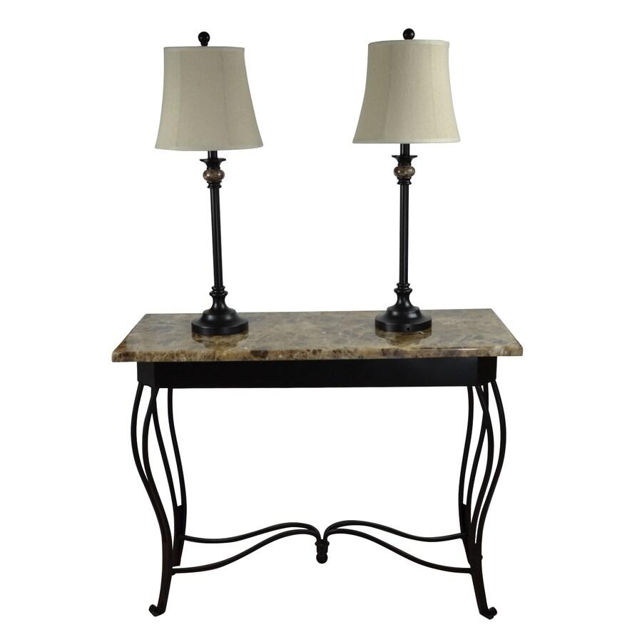 Portfolio Barada 3-Piece Bronze Casual/Transitional Standard Lamp Set with Fabric Shades