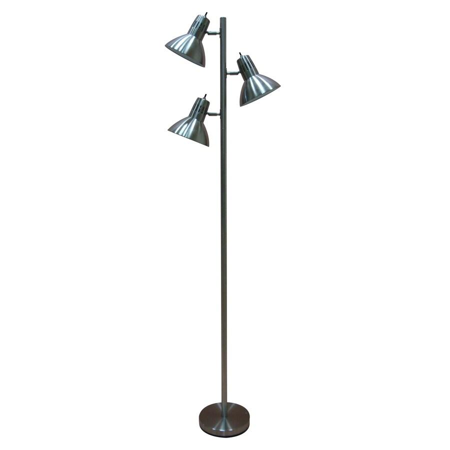 allen + roth Embleton 68-in Brushed Nickel Multi-Head Indoor Floor Lamp with Metal Shade