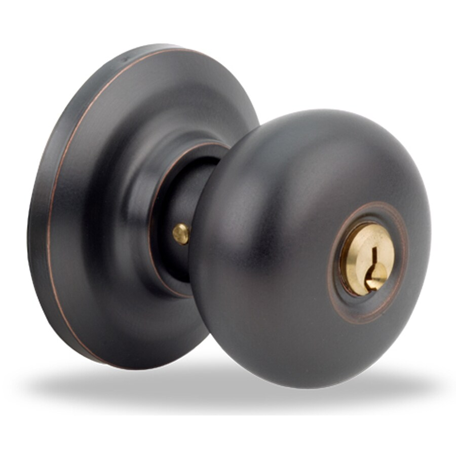 Yale Security YH Cambridge Oil-Rubbed Bronze Permanent Round Keyed Entry Door Knob