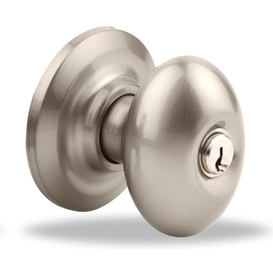 Yale Security YH Dartmouth Satin Nickel Egg Keyed Entry Door Knob