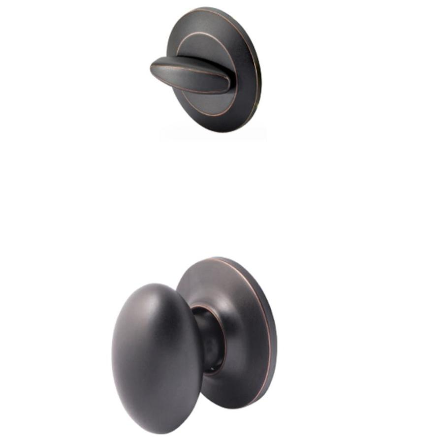 Yale Security Terra 1-3/4-in Oil-Rubbed Bronze Permanent Single Cylinder Knob Entry Door Interior Handle