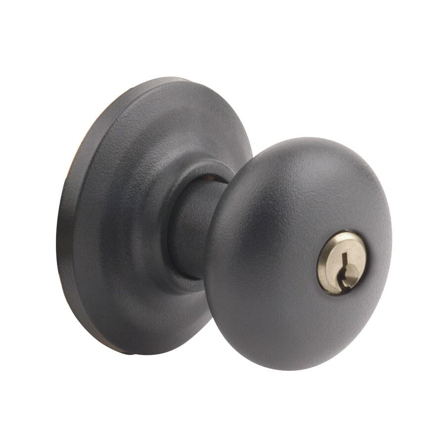 Yale Security YH Cambridge Textured Black Round Keyed Entry Door Knob