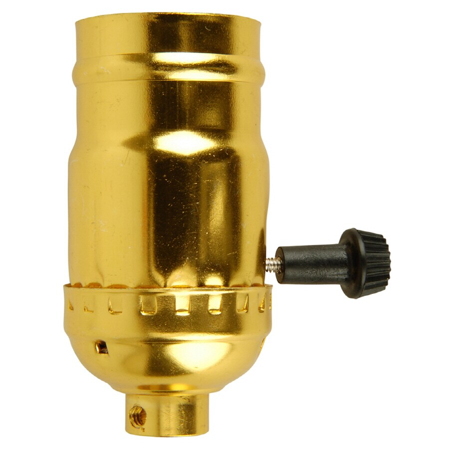 Portfolio 3-Way 250-Watt Polished Brass Lamp Socket
