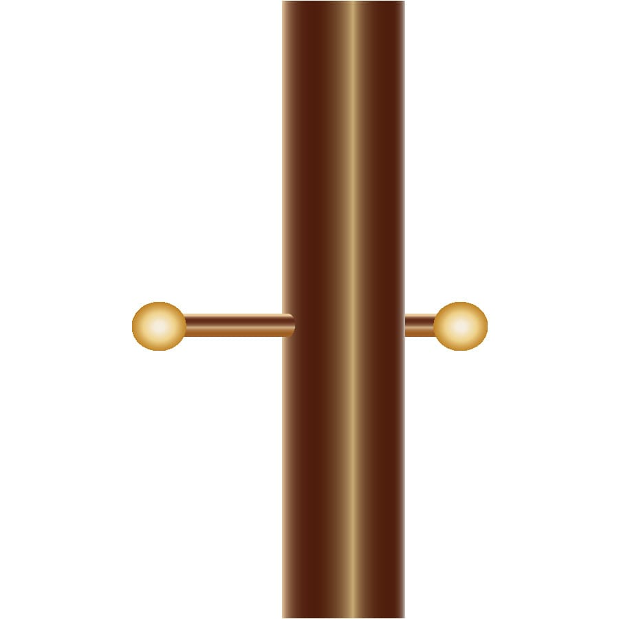 Touch & Glow Rust Bronze 84-in Post Light Pole