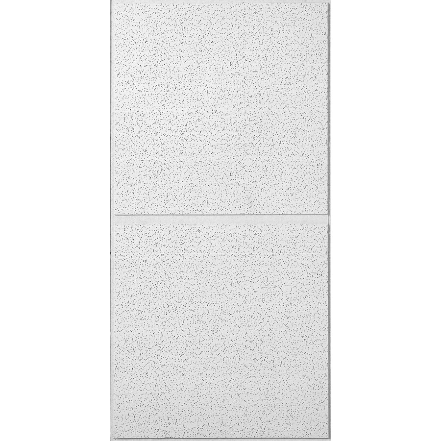 USG Ceilings 6-Pack White Fissured 3/4-in Drop Acoustic Panel Ceiling Tiles (Common: 48-in x 24-in; Actual: 47.75-in x 23.75-in)
