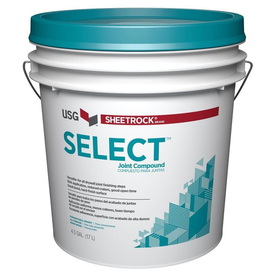Shop sheetrock brand select 4 5 gallon premixed all for Bathroom joint compound
