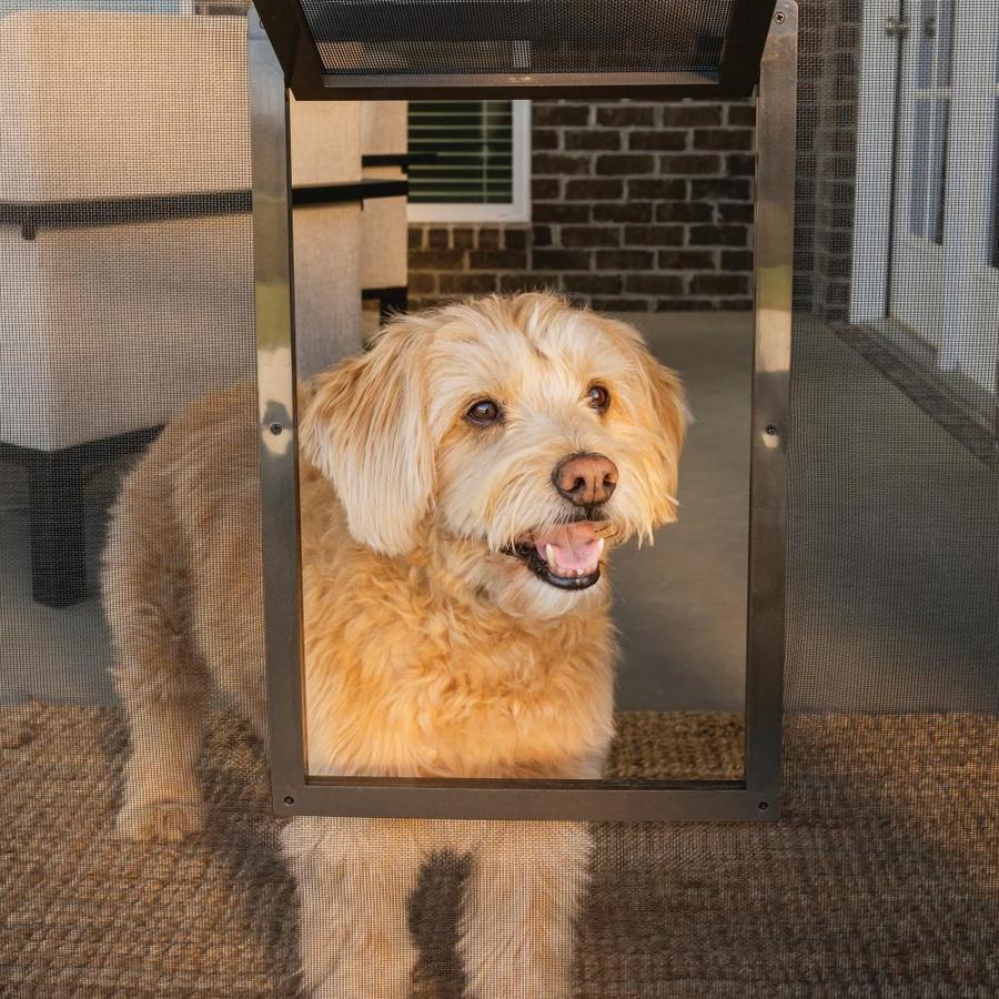 PetSafe Medium Brown/Bronze Plastic Door or Wall Pet Door (Actual: 9.25-in x 7.9-in)