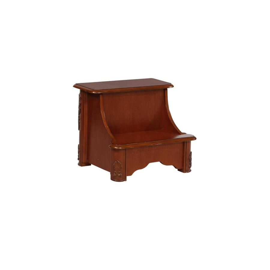 Powell 1-Piece 17.25-in Mahogany Wood Bed Riser