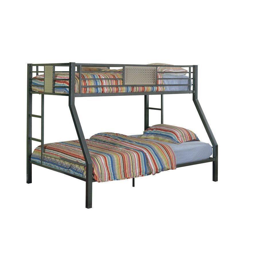 Shop Powell Monster Charcoal Twin Over Full Bunk Bed At