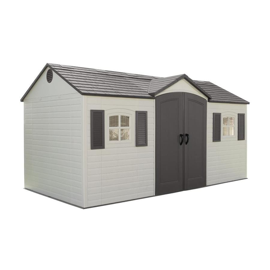 Shop lifetime products gable storage shed common 15 ft x for Gable sheds