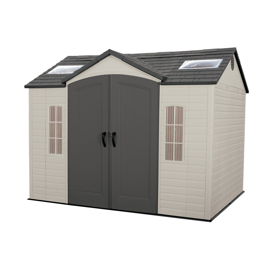 Shop lifetime products gable storage shed common 10 ft x for Garden shed 5 x 4
