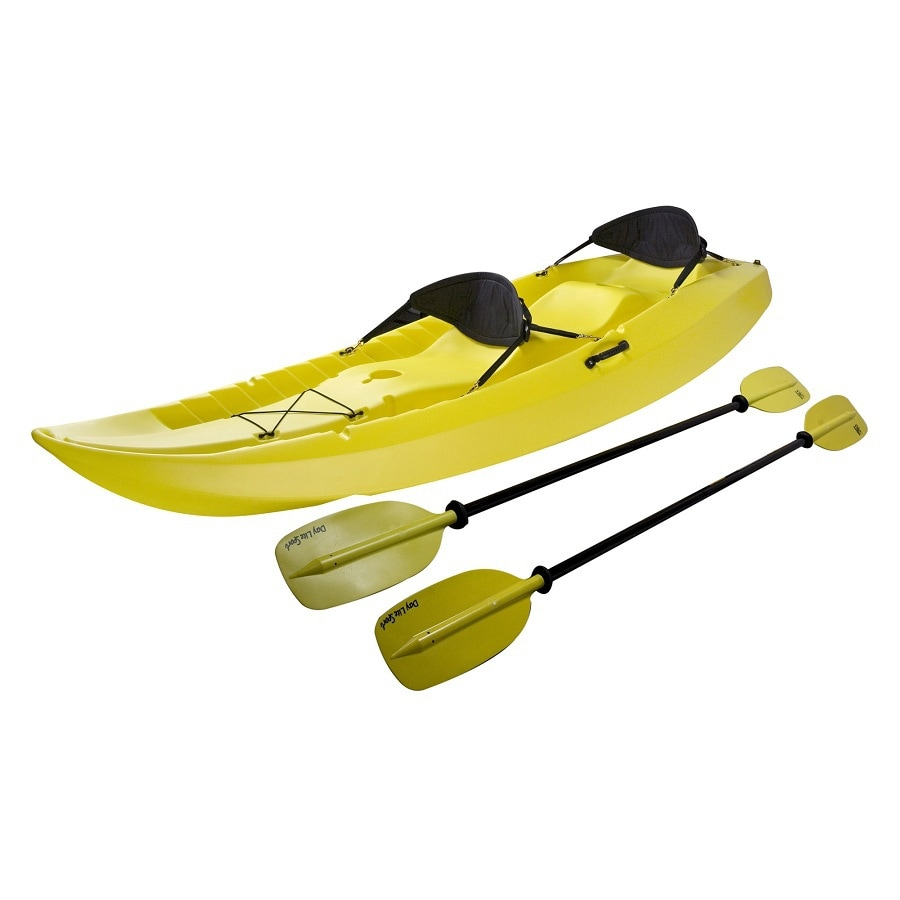 LIFETIME PRODUCTS Manta 10-ft x 36-in Yellow 2-Person Plastic Recreational Kayak