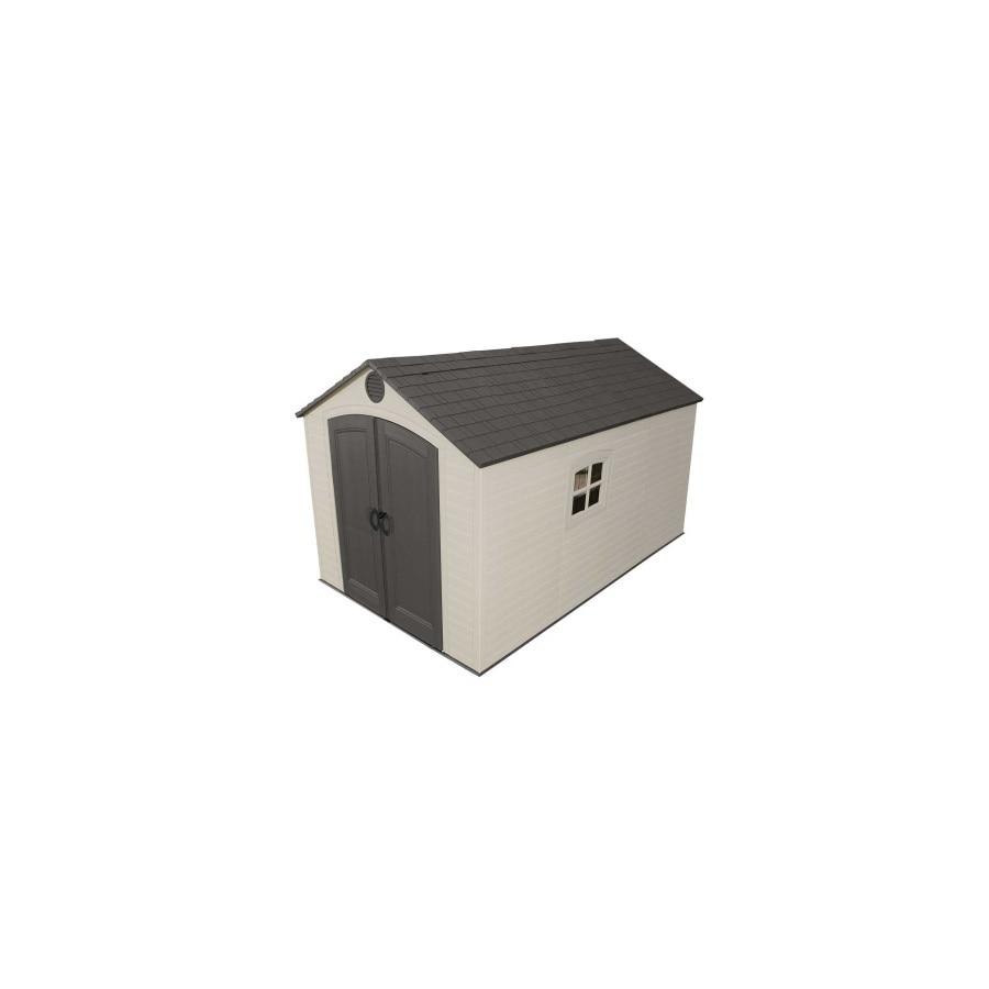 Shop Lifetime Products Gable Storage Shed Common 8 Ft X