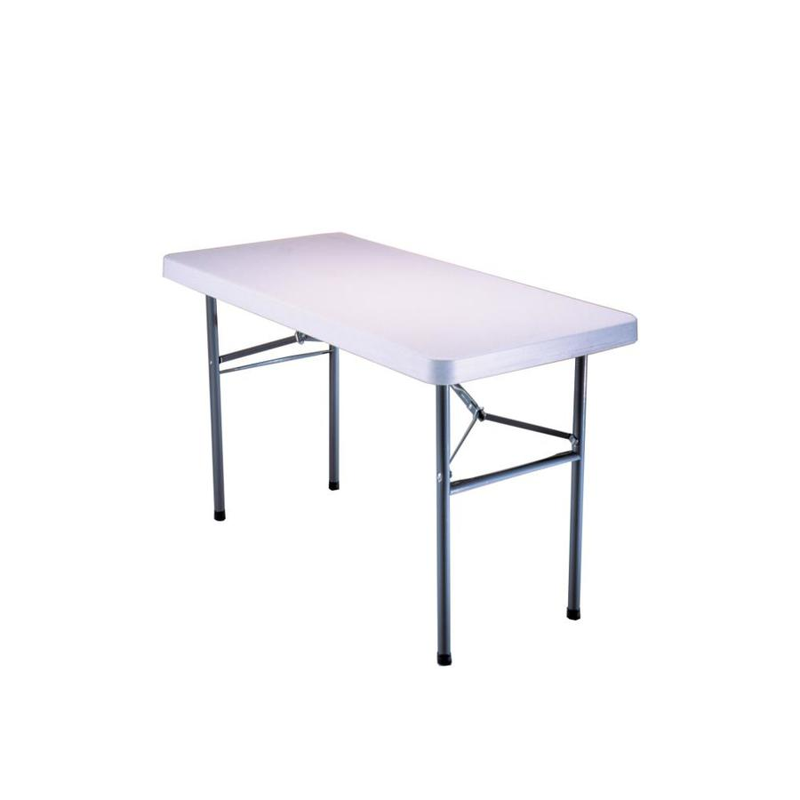 LIFETIME PRODUCTS 48-in x 24-in Rectangle Steel White Folding Table