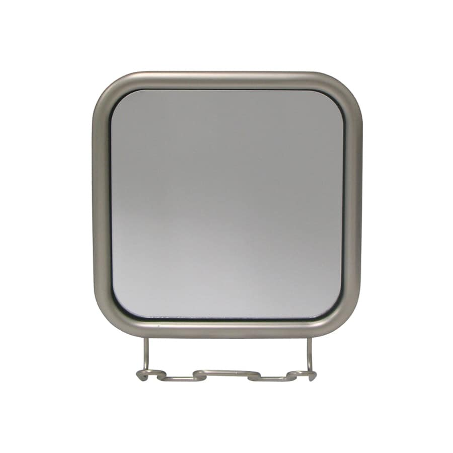 interDesign Satin Nickel Fog-Free Vanity Mirror