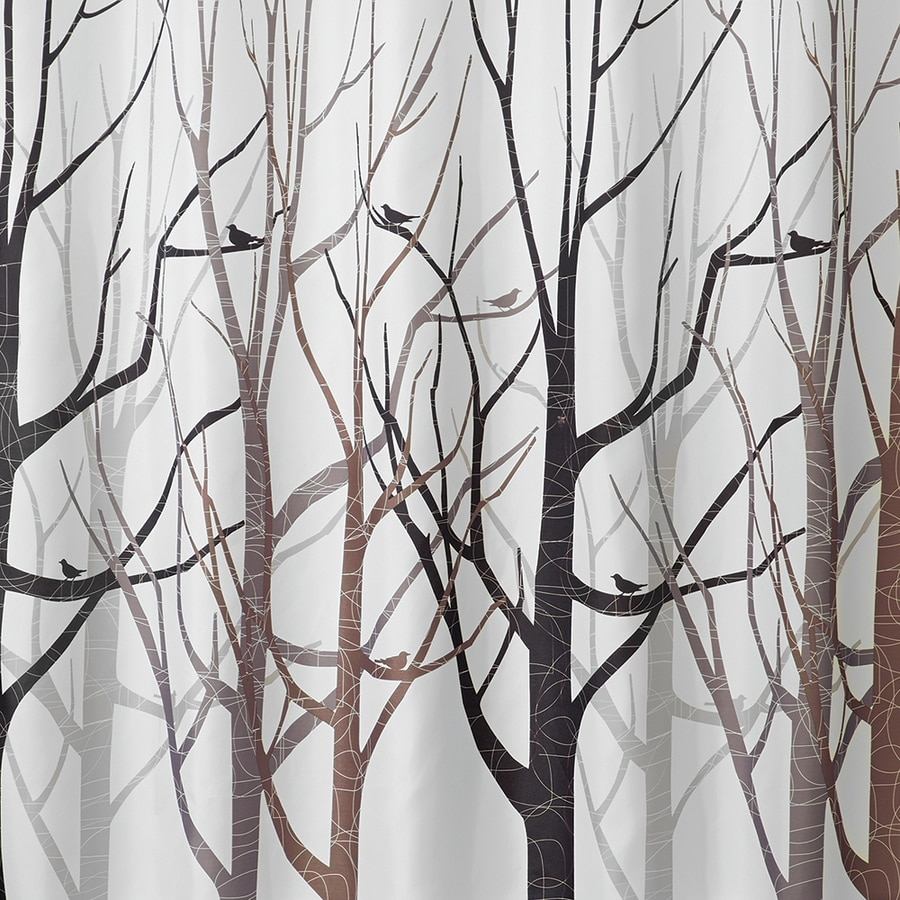 interDesign Polyester Pattern Patterned Shower Curtain