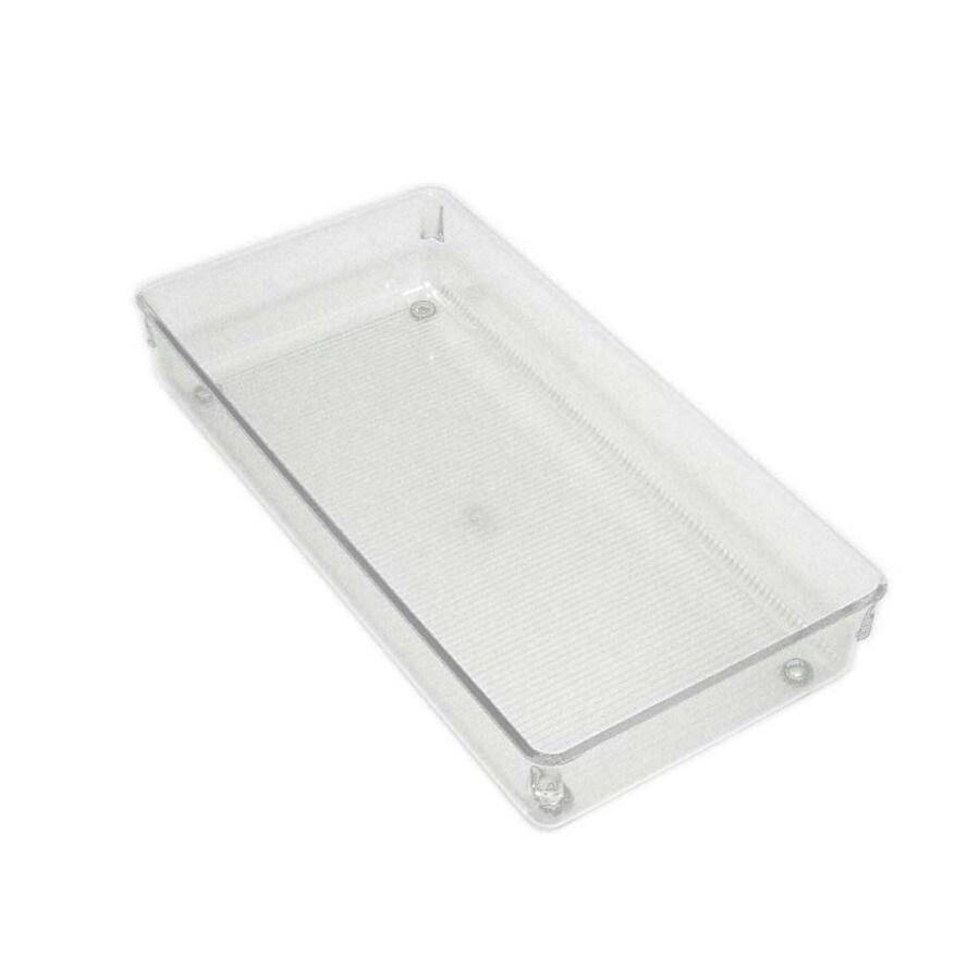 interDesign 12-in x 6-in Plastic Multi-Use Insert Drawer Organizer