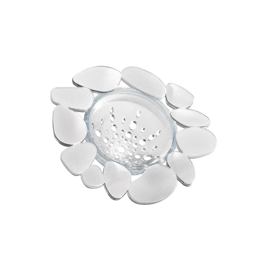 interDesign 0-in Clear Plastic Kitchen Sink Strainer Basket
