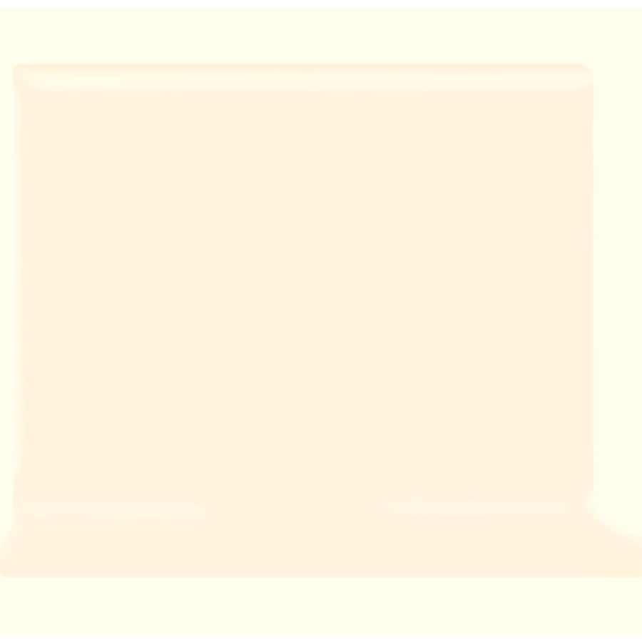 American Olean Bright Ice White Ceramic Cove Base Tile (Common: 4-in x 4-in; Actual: 4.25-in x 4.25-in)