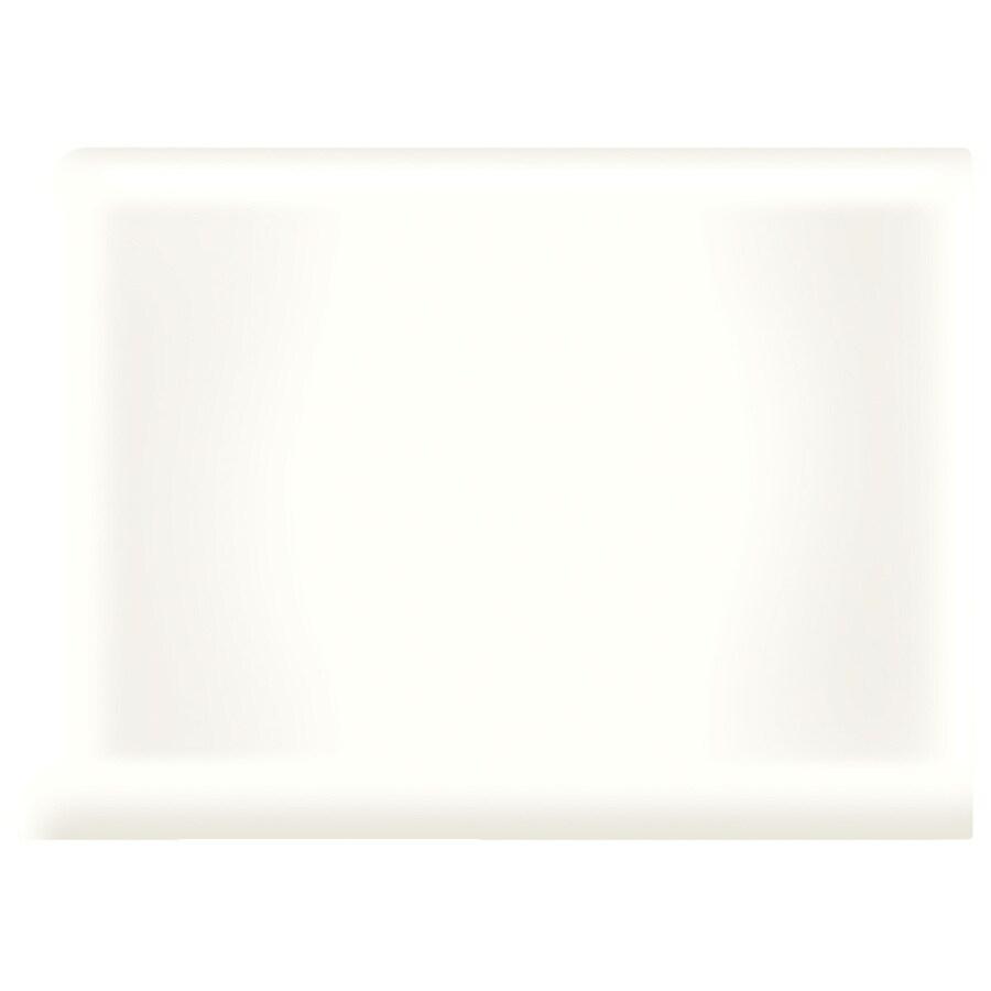 American Olean Bright Ice White Ceramic Cove Base Tile (Common: 4-in x 4-in; Actual: 4.25-in x 4.25-in)