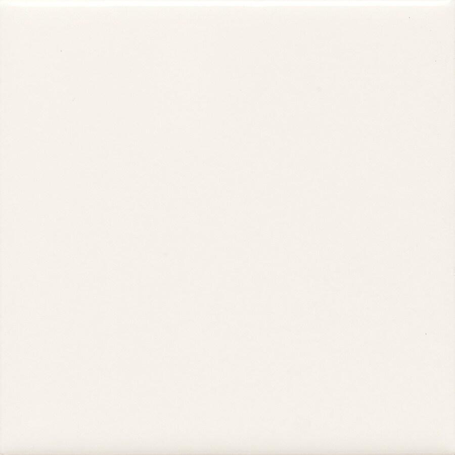 American Olean Bright Ice White Ceramic Bullnose Corner Tile (Common: 4-in x 4-in; Actual: 4.25-in x 4.25-in)