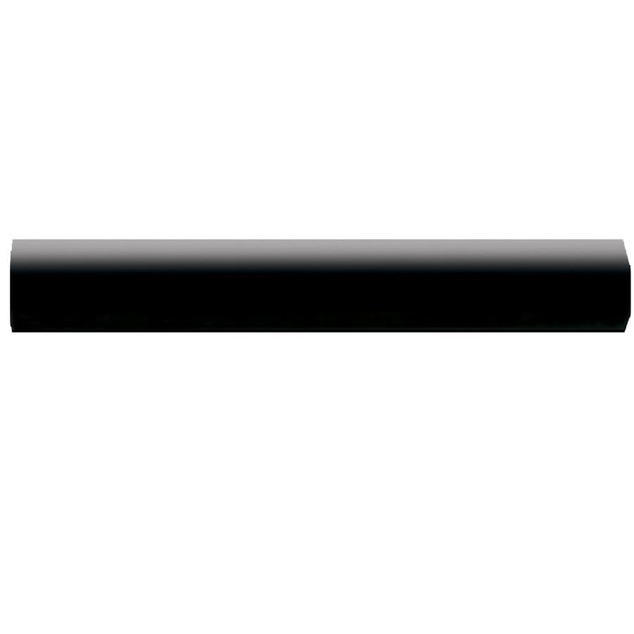 American Olean Bright Gloss Black Ceramic Quarter Round Tile (Common: 1-in x 6-in; Actual: 0.75-in x 6-in)