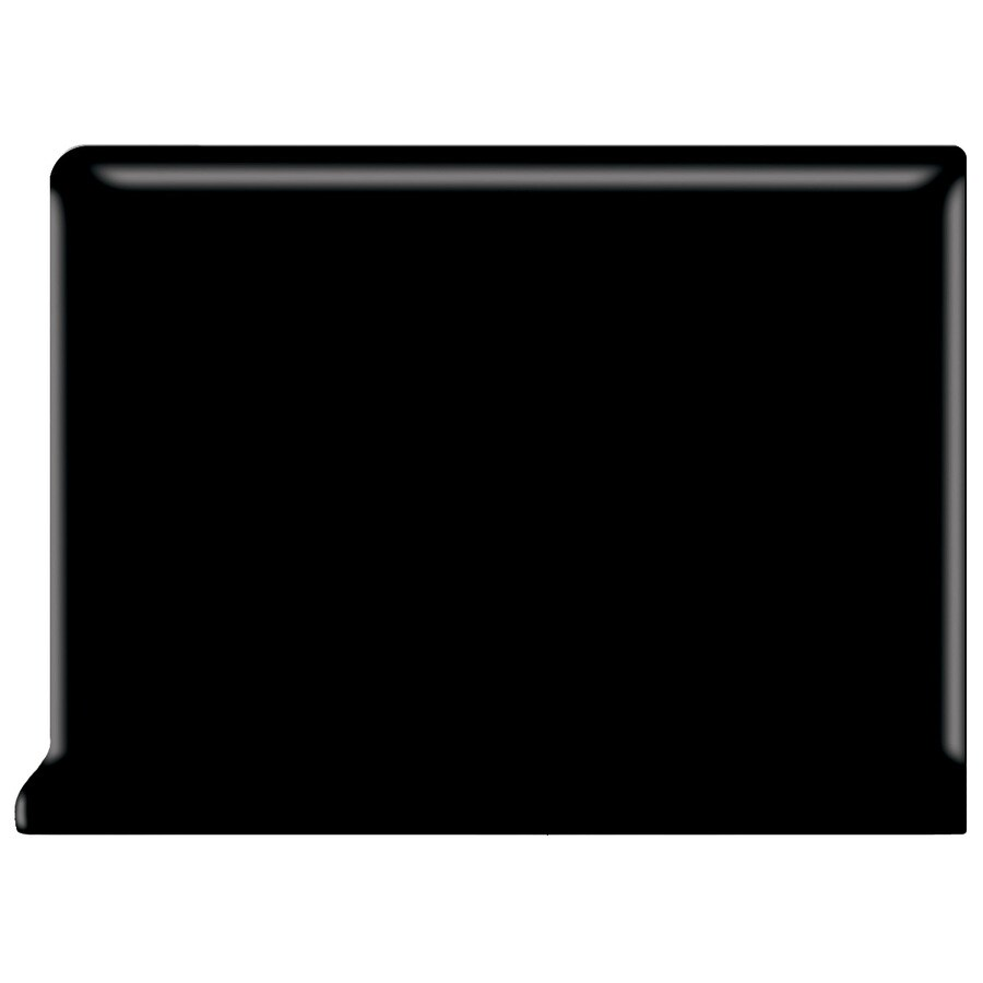 American Olean Bright Gloss Black Ceramic Cove Base Tile (Common: 4-in x 4-in; Actual: 4.25-in x 4.25-in)