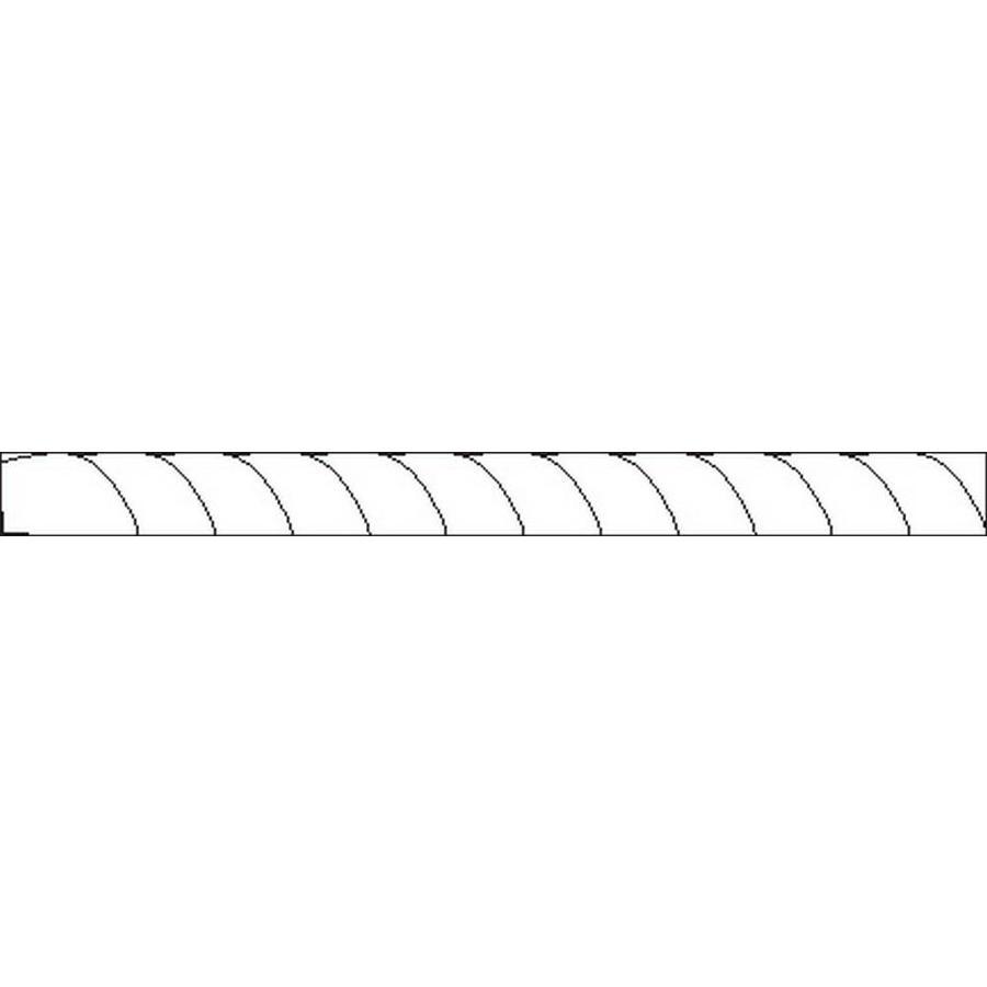 Ceramic tile pencil trim