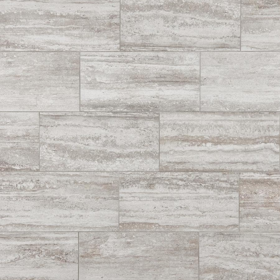 Mohawk Foreverstyle Cream Travertine 12 In X 24 In Lappato Porcelain Stone Look Floor Tile In The Tile Department At Lowes Com