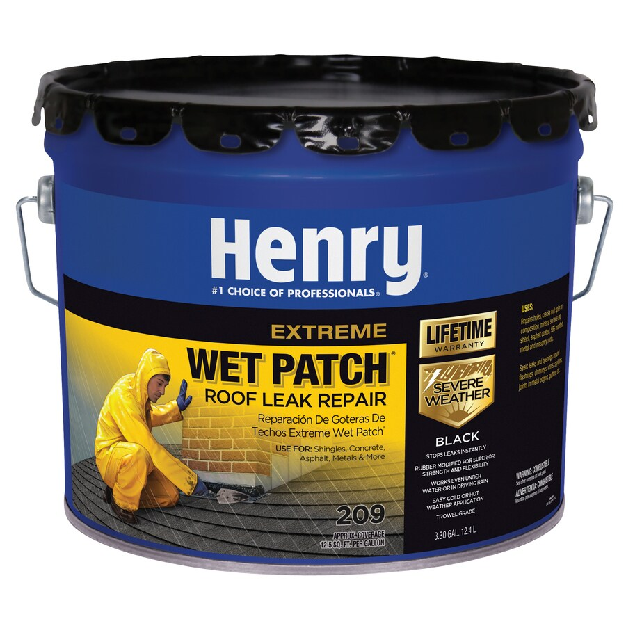 Henry Company Extreme Wet Patch 3-Gallon Waterproofer Elastomeric Cement Roof Sealant