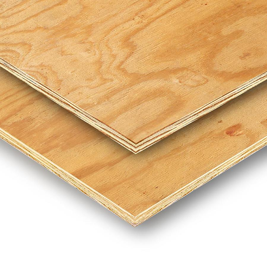 Plytanium 3/8 x 4 x 8 Pine Sheathing Plywood