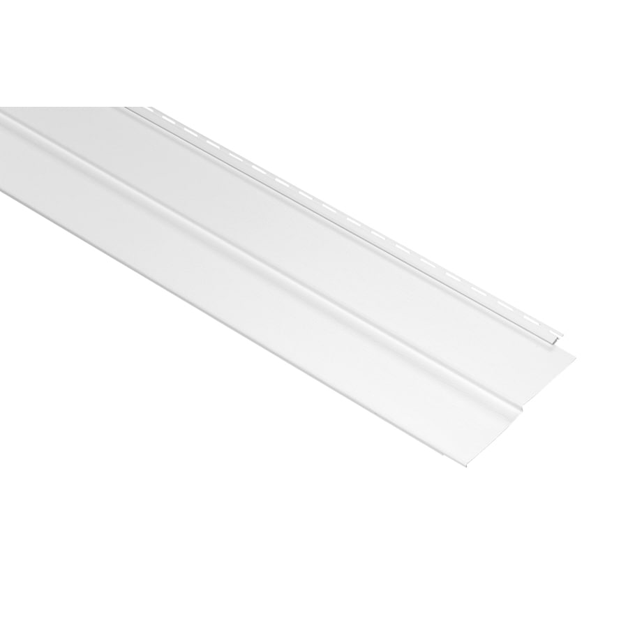 Georgia-Pacific Vision Pro 10-in x 144-in White Wood Grain Double 5 Traditional Vinyl Siding Panel