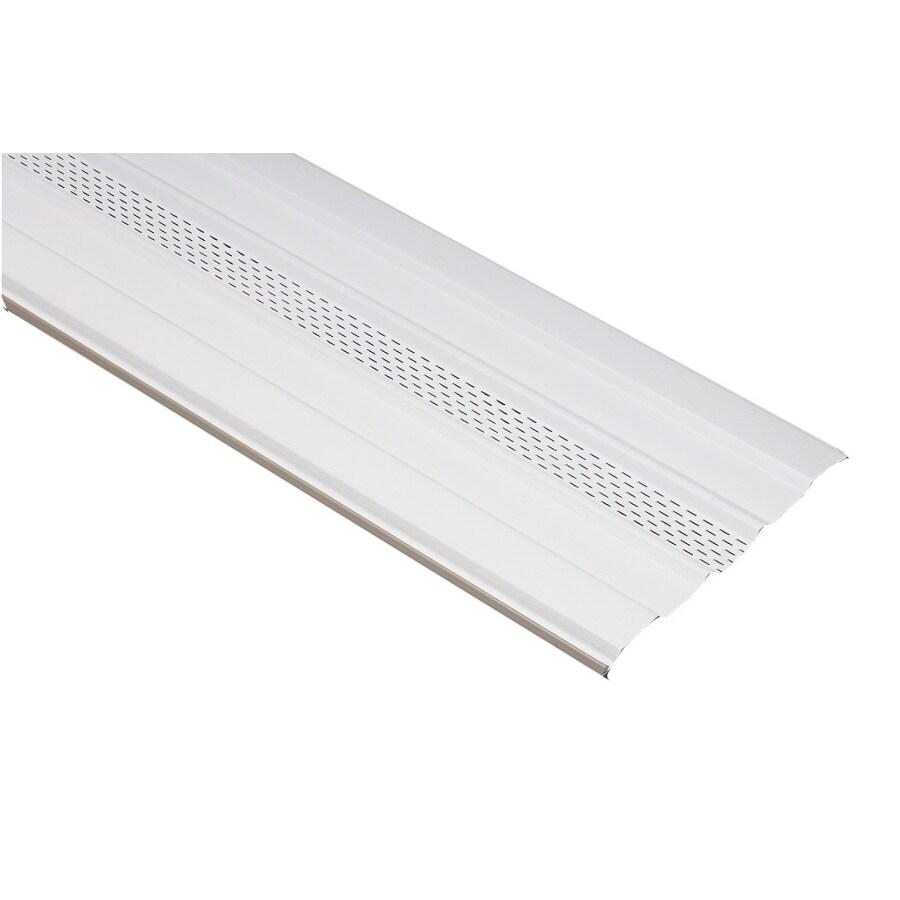 16-in x 7.9791-ft White Vinyl Skirting Panel